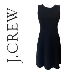 J CREW stretchy fit and flare dress in black